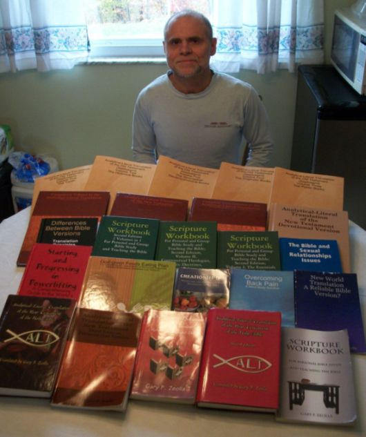 Me, with the two dozen books I have written